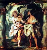 Питер Пауэл Рубенс. Пророк Илия получает от ангела хлеб и воду. 1625-28 гг.