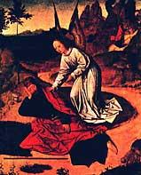 Дирк Баутс. Явление ангела пророку Илии. 1464-67 гг.