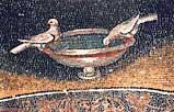 Голубки. Деталь мозаики в мавзолее Галлы Плацидии.