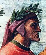 Фрагмент фрески Рафаэля «Парнас». Данте Алигьери. 1510 г.